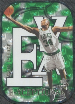 1999/00 E-X #XC4 Paul Pierce E-Xceptional Green #372/500