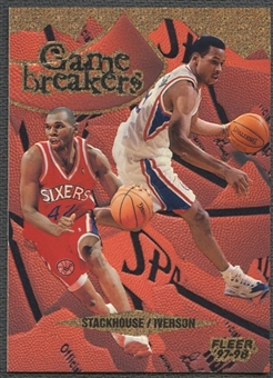 1997/98 Fleer #8 Allen Iverson & Jerry Stackhouse Game Breakers