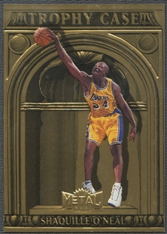 1997/98 Metal Universe #4 Shaquille O'Neal Championship Trophy Case