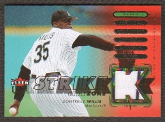 2007 Fleer Ultra Strike Zone Materials #DW Dontrelle Willis