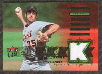 2007 Fleer Ultra Strike Zone Materials #JV Justin Verlander