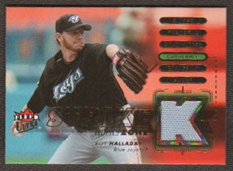 2007 Fleer Ultra Strike Zone Materials #RH Roy Halladay