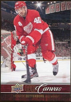 2012/13 Upper Deck Canvas #C30 Henrik Zetterberg