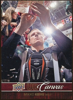 2012/13 Upper Deck Canvas #C41 Mikko Koivu