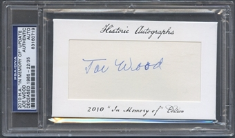 2010 Historic Autographs In Memory Of Joe Wood Auto #22/35 PSA DNA