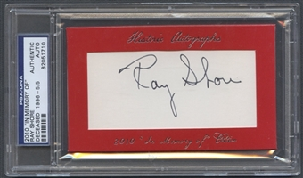 2010 Historic Autographs In Memory Of Ray Shore Auto #5/5 PSA DNA
