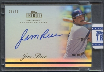 2012 Topps Tribute #JR1 Jim Rice Auto #26/99