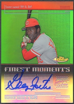 2003 Finest #GF George Foster Finest Moments Refractor Auto