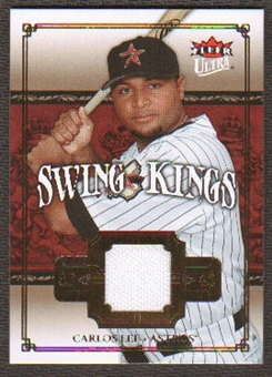 2007 Fleer Ultra Swing Kings Materials #CL Carlos Lee