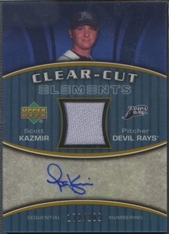 2007 Upper Deck Elements #SK Scott Kazmir Clear Cut Elements Gold Jersey Auto #172/199