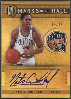 2011/12 Panini Gold Standard #3 Nate Archibald Marks of the Hall Auto #64/99