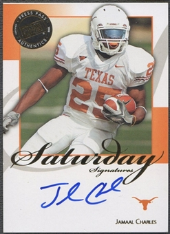2008 Press Pass Legends #SSJC Jamaal Charles Saturday Signatures Auto