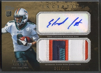 2011 Topps Inception #AJPEG Edmond Gates Rookie Jumbo Patch Auto #348/599