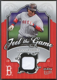 2006 Ultra #MR Manny Ramirez Feel the Game Jersey