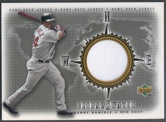 2002 Upper Deck #GSMR Manny Ramirez Global Swatch Game Jersey