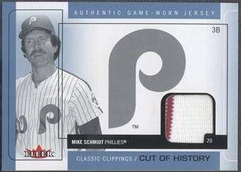 2005 Classic Clippings #MS Mike Schmidt Cut of History Single Blue Jersey