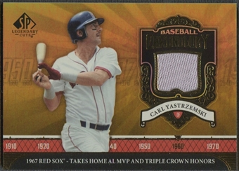 2006 SP Legendary Cuts #YZ Carl Yastrzemski Chronology Materials Jersey