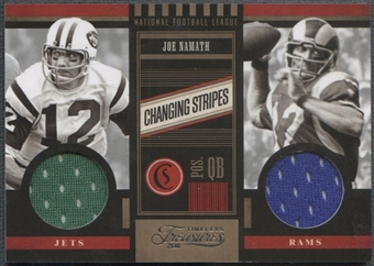 2011 Timeless Treasures #14 Joe Namath Changing Stripes Jersey #096/249