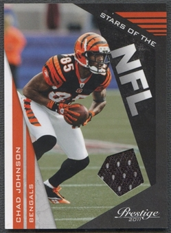 2011 Prestige #10 Chad Johnson Stars of the NFL Materials Jersey #012/250