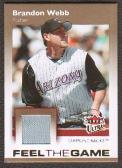 2007 Fleer Ultra Feel the Game Materials #BW Brandon Webb