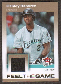 2007 Fleer Ultra Feel the Game Materials #HR Hanley Ramirez