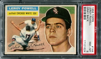 1956 Topps Baseball #144 Leroy Powell PSA 8 (NM-MT) *1624