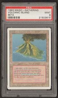 Magic the Gathering 3rd Ed (Revised) Single Volcanic Island PSA 9