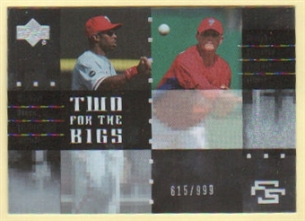 2007 Upper Deck Future Stars Two for the Bigs #BB Michael Bourn/Joseph Bisenius /999