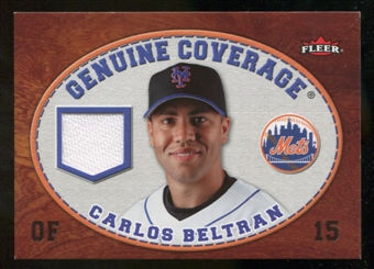 2007 Fleer Genuine Coverage #CB Carlos Beltran
