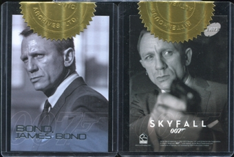 2012 James Bond 50th Anniversary Bond James Bond #B23 Daniel Craig In Skyfall (Issued In 2013 James Bond Skyfa