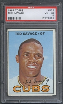1967 Topps Baseball #552 Ted Savage PSA 4 (VG-EX) *7593