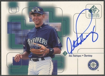 1999 SP Signature #AR Alex Rodriguez Auto