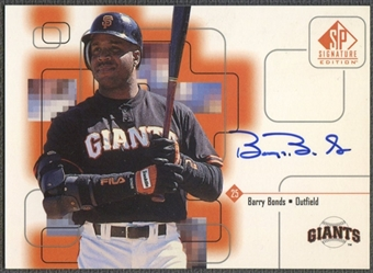 1999 SP Signature #BB Barry Bonds Auto