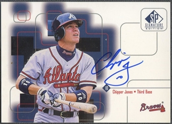 1999 SP Signature #CJ Chipper Jones Auto
