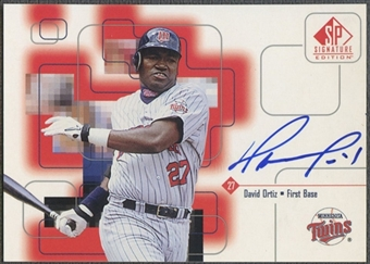 1999 SP Signature #DO David Ortiz Auto