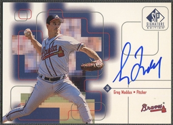 1999 SP Signature #GM Greg Maddux Auto