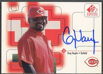 1999 SP Signature #GV Greg Vaughn Auto