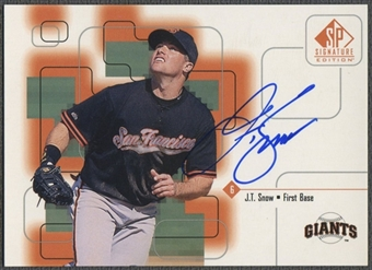 1999 SP Signature #JT J.T. Snow Auto