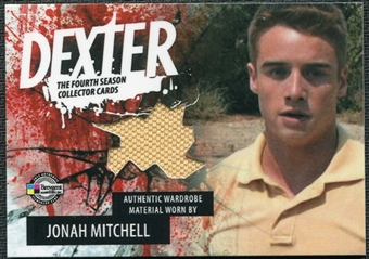 2012 Breygent Dexter Season Four Costumes #CJMY Jonah Mitchell peach shirt