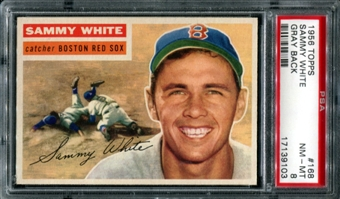 1956 Topps Baseball #168 Sammy White PSA 8 (NM-MT) *9103