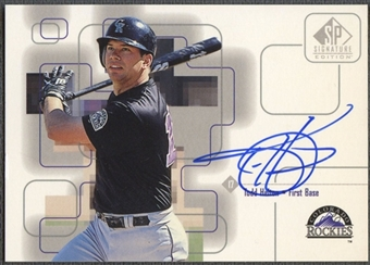 1999 SP Signature #THE Todd Helton Auto