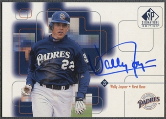 1999 SP Signature #WJ Wally Joyner Auto