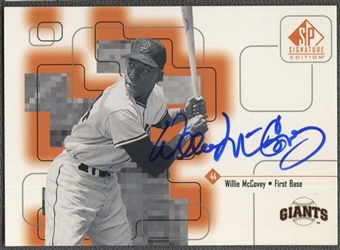1999 SP Signature #WMC Willie McCovey Auto