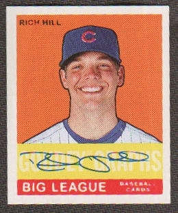2007 Upper Deck Goudey Goudey Graphs #HI Rich Hill Autograph