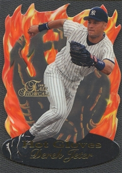 1997 Flair Showcase #6 Derek Jeter Hot Gloves