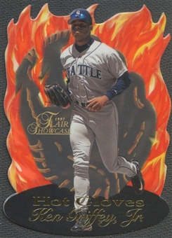 1997 Flair Showcase #4 Ken Griffey Jr. Hot Gloves