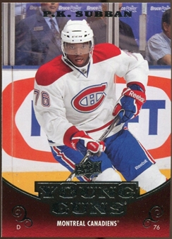 2010/11 Upper Deck #231 P.K. Subban YG RC Young Guns Rookie Card