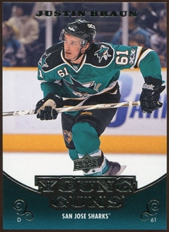 2010/11 Upper Deck #489 Justin Braun YG RC Young Guns Rookie Card