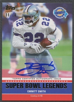 2011 Topps #SBAXXVIII Emmitt Smith Super Bowl Legends Gold Auto #08/10