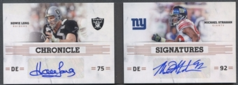 2011 Panini Playbook #3 Howie Long & Michael Strahan Chronicles Signatures Auto #5/5